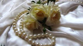 Wedding bouquet with roses stock video