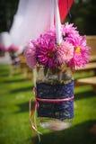 Wedding bouquet set up in evening outdoor Stock Images