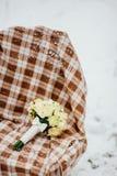 Wedding bouquet on the snow Royalty Free Stock Photos