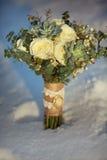 Wedding bouquet in the snow Stock Photos