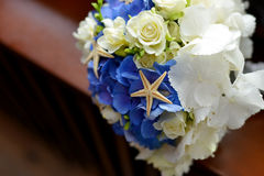 Wedding bouquet with starfish Royalty Free Stock Image