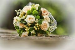 Wedding bouquet on stone. Nice wedding bouquet on stone Stock Photos
