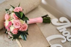 Wedding bouquet in the style of provence Stock Images