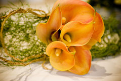 Wedding bouquet on table Royalty Free Stock Photography