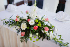 Wedding bouquet on a table Royalty Free Stock Image