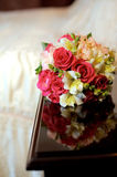 Wedding Bouquet on Table Royalty Free Stock Photo