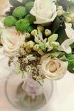 Wedding bouquet on table. Wedding bouquet on a wedding table Stock Photos