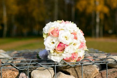 Wedding bouquet on table Royalty Free Stock Photos