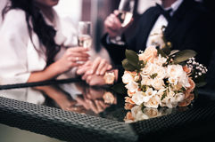 Wedding Bouquet on a Table Royalty Free Stock Images