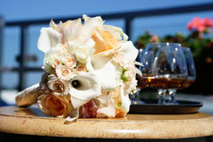 Wedding bouquet on the table Stock Photography