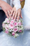 Wedding bouquet from tender roses Stock Photo