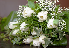 Wedding bouquet with tulips stock image