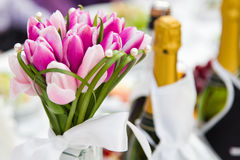 Wedding bouquet tulips Stock Photo