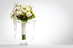 Wedding bouquet in vase Royalty Free Stock Image