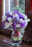 Wedding bouquet in vase Stock Images