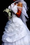 Wedding bouquet. Veil Stock Images