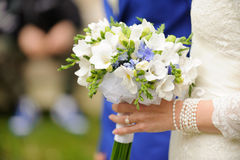 Wedding Bouquet in Veil Stock Photos