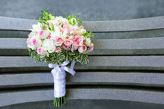 Wedding bouquet view from above Stock Photo