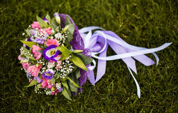 Wedding bouquet, wedding flowers, bouquet of blue, pink and white flowers Stock Photography