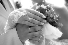 Wedding bouquet / Wedding rings Royalty Free Stock Images