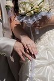 Wedding bouquet / Wedding rings Stock Photo