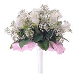 Wedding bouquet on a white Stock Images