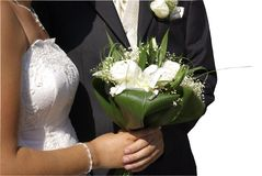 Wedding bouquet on white background Royalty Free Stock Photo