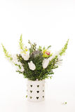 Wedding bouquet on white background. Orchid, tulips Stock Photos