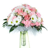 Wedding bouquet on white background. Photo of wedding bouquet on white background Royalty Free Stock Image