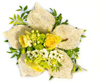 Wedding bouquet on the white background Stock Image