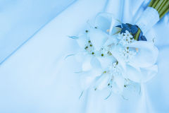 Wedding bouquet of white calla lilies Royalty Free Stock Photography