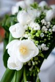 Wedding bouquet of white flowers Stock Image