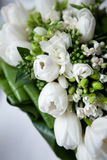 Wedding bouquet of white flowers Stock Images