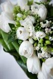 Wedding bouquet of white flowers. Beautiful bouquet of white flowers Stock Images
