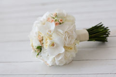 Wedding bouquet of white orchids.  Stock Photo