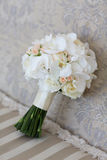 Wedding bouquet of white orchids.  Royalty Free Stock Images