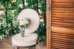 Wedding bouquet white peonies Stock Photography
