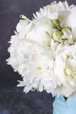 Wedding bouquet with white peonies, orchids and carnations. Party decor Stock Image