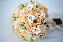 Wedding bouquet on white Stock Image