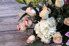 Wedding bouquet of white and pink flowers Royalty Free Stock Images