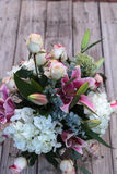 Wedding bouquet of white and pink flowers Royalty Free Stock Image