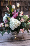 Wedding bouquet of white and pink flowers Stock Image