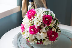 Wedding bouquet with white and pink flowers Royalty Free Stock Image