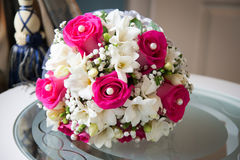 Wedding bouquet with white and pink flowers Royalty Free Stock Images