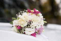 Wedding bouquet with white and pink flowers Stock Image