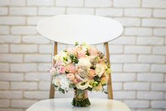Wedding bouquet with white and pink flowers.  Royalty Free Stock Image