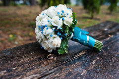 Wedding bouquet with white rose Stock Image
