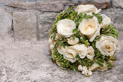 Wedding bouquet. A wedding bouquet with white roses Royalty Free Stock Photos
