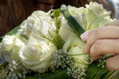 Wedding bouquet. With white roses Royalty Free Stock Images