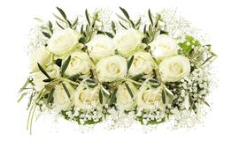 Wedding bouquet of white roses Royalty Free Stock Photos